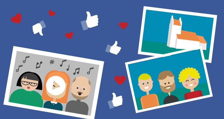 Ideer til opslag for kirken på Facebook og sociale medier