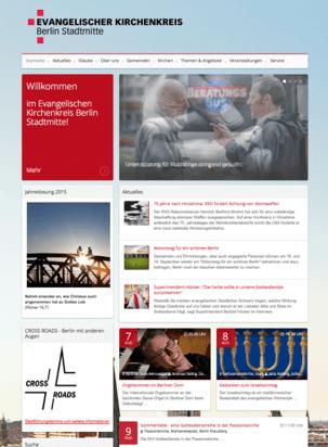 Der Kirchenkreis Berlin-Stadtmitte zeigt mit seiner Internetseite auf eindrucksvolle Art, wie vielfältige Inhalte für ein lebendiges Besuchererlebnis sorgen