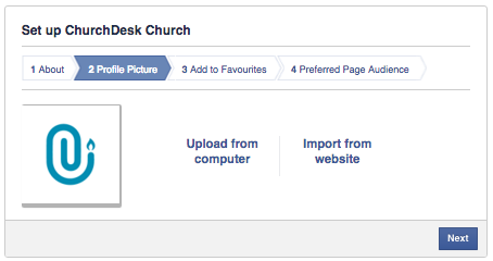 Upload your church logo to Facebook