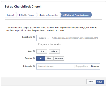Save your Facebook page