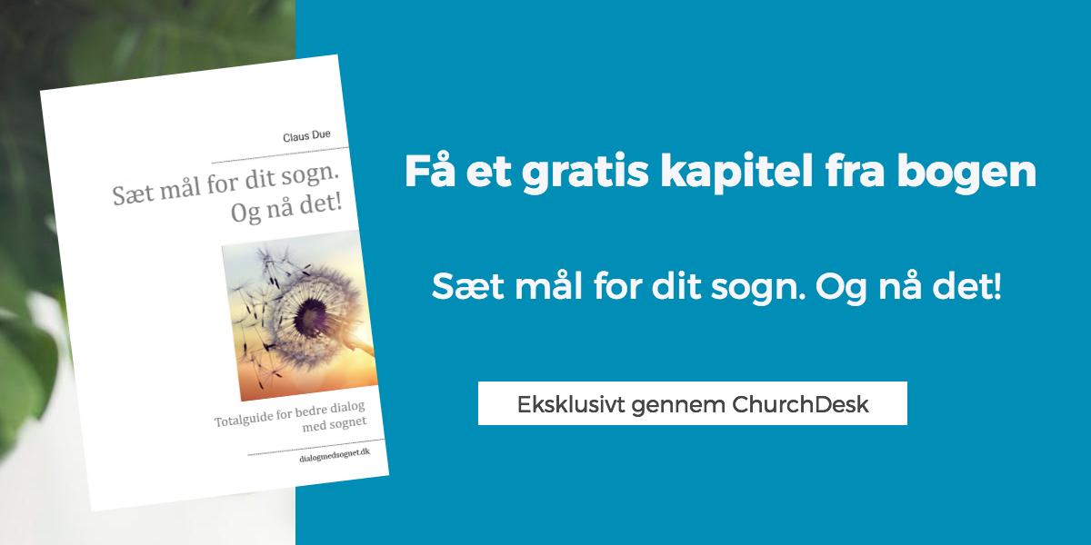 """Få et gratis kapitel af bogen """"Sæt mål for dit sogn. Og nå det""""."""