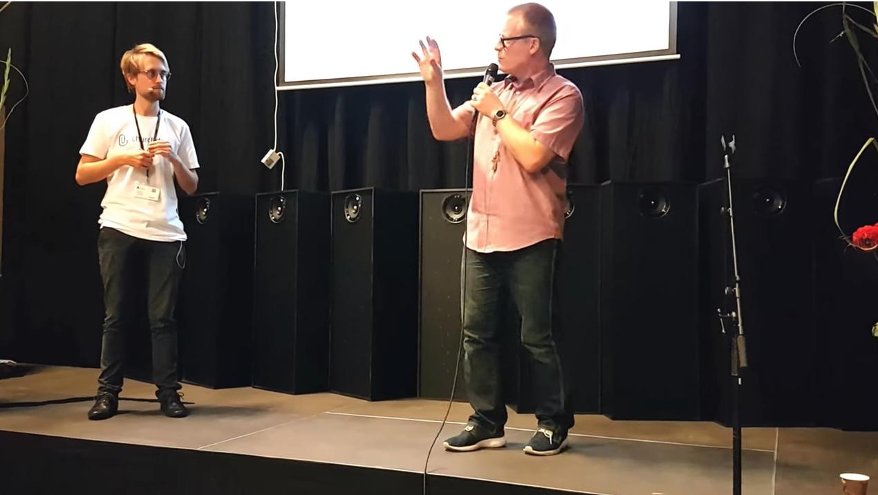 Henrik Refshauge fra Haderslev Domsogn og Christian Steffensen fra ChurchDesk