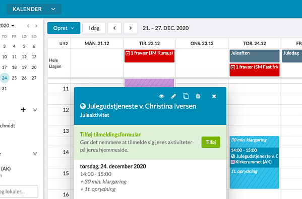 Knyt begivenheder og tilmeldinger sammen nemt i ChurchDesk
