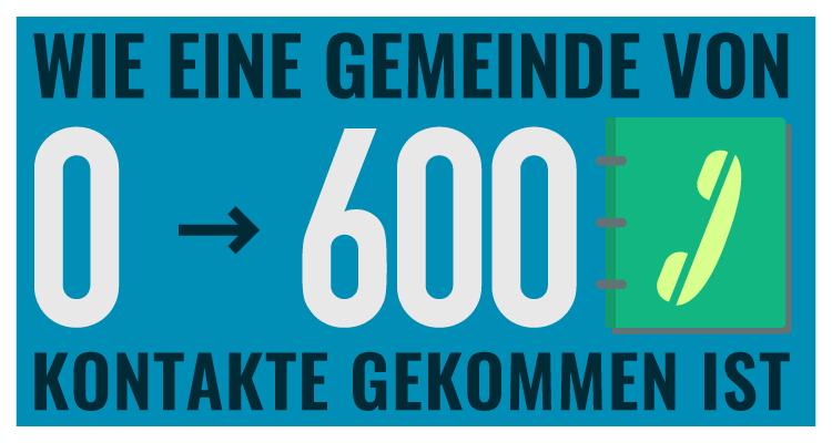 [Infografik]Wie eine Gemeinde von Null auf 600 Kontakte gekommen ist