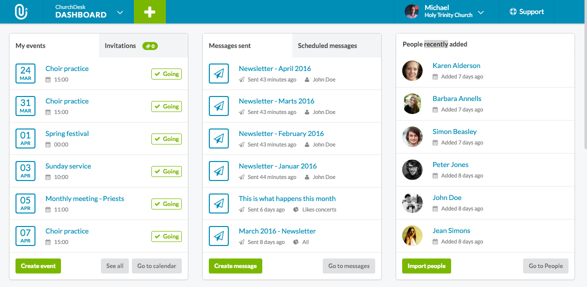 Our new dashboard will help you stay on top of your church