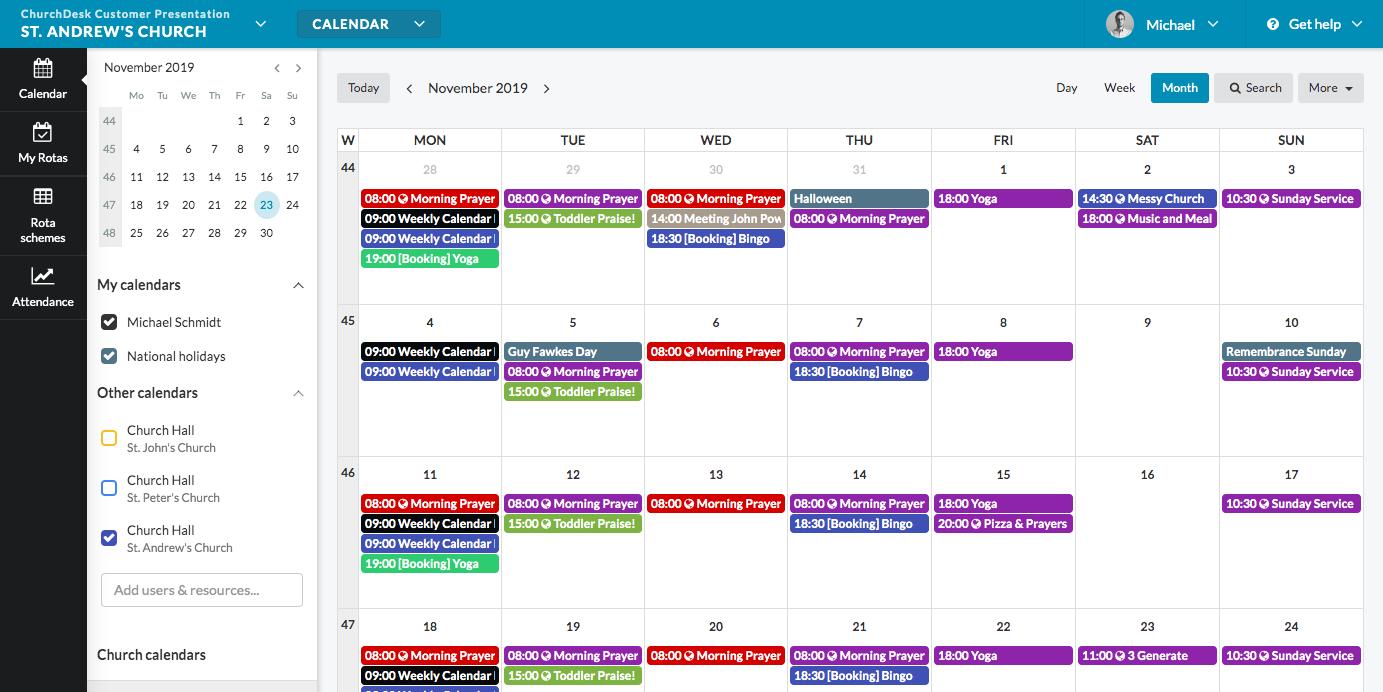 New ChurchDesk Calendar
