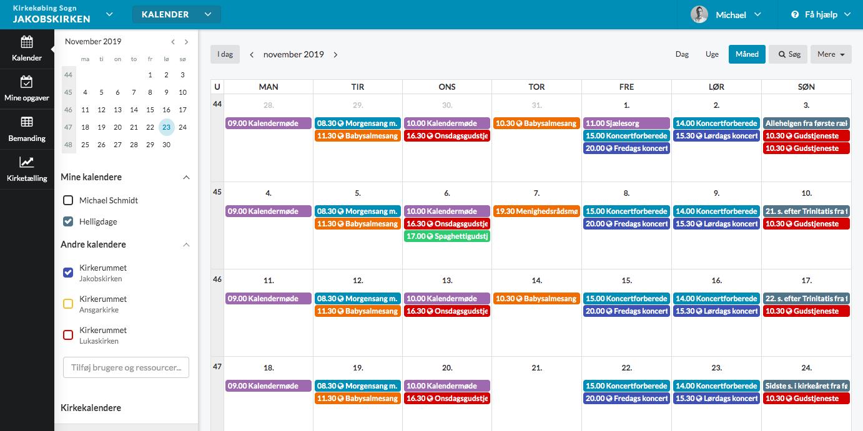 Ny ChurchDesk Kalender