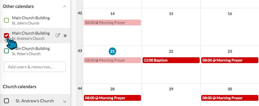 ChurchDesk Room Calendar