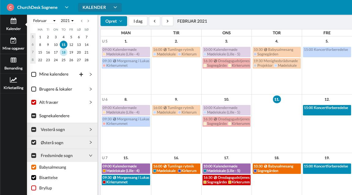 ChurchDesk Ny Kalender