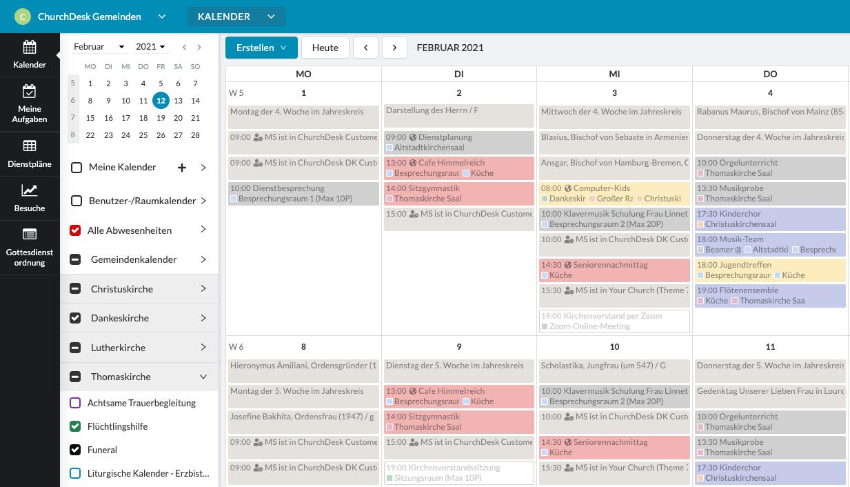 Neue ChurchDesk Kalender
