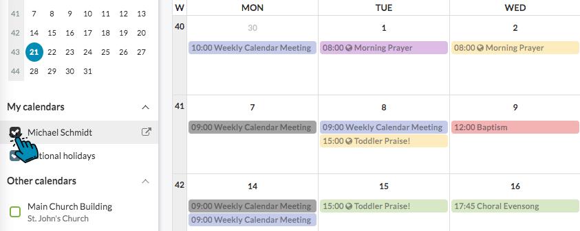 My ChurchDesk Calendar