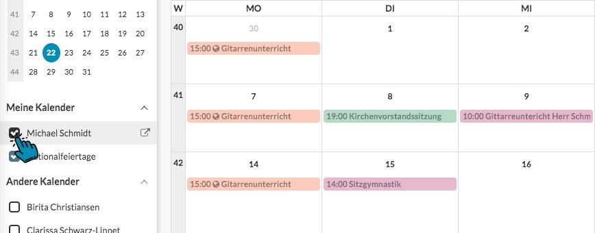 Meine ChurchDesk Kalender